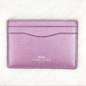 Womens coach business card holder on poshmark coach pink metallic card holder colourmoves